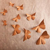 3D Wall Butterflies 20 Latte Brown Butterfly by hipandclavicle