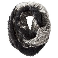 Target Limited Edition Infinity Faux Fur Scarf - Black/Gray