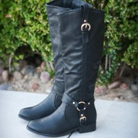 DbDk Dakkeni-7 Harness Strap Riding Knee High Boot - Shoes 4 U Las Vegas