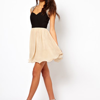 Little Mistress Embellished Shoulder Prom Dress