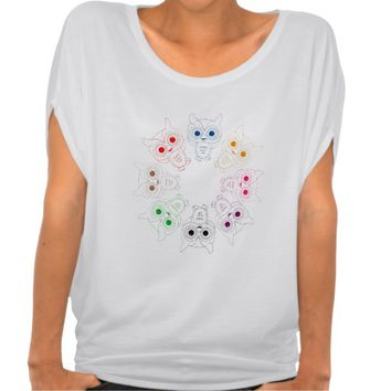 Rainbow Owls T-shirts