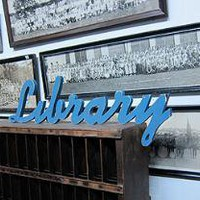 Three Potato Four - 3-P4 Library Sign