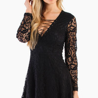 Lace It Up Dress $30