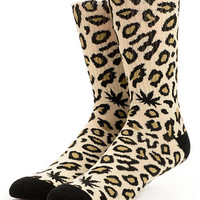 Odd Future Domo Cheetah Tan Crew Socks
