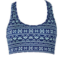 Medium Impact - Reversible Snowflake Sports Bra