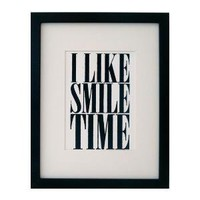 SALE i like smile time mini print black by fifiduvie on Etsy