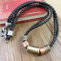 2-Pack Leather Bracelets and Necklace-  Wristband - Great For Men, Women, Teens, Boys, Girls 2599s