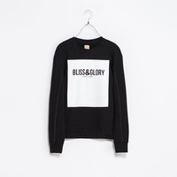 SWEATSHIRT WITH FAUX LEATHER PIPING - T - shirts - TRF | ZARA United States