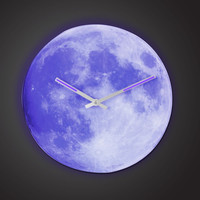 The Luminescent Moon Clock - Hammacher Schlemmer