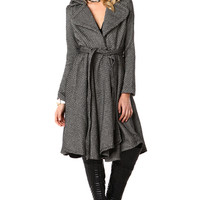 Long Wool Blend Dress Coat