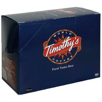 Timothy's World Coffee, Colombian, Decaffeinated, K-Cups for Keurig Brewers, 25-Count Boxes (Pack of 2)