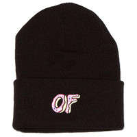 OF DONUT BEANIE BLACK – Odd Future