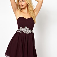 AX Paris Bandeau Prom Dress With Embellishment