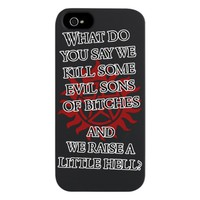 SUPERNATURAL WHAT DO YOU SAY A iPhone 5 Case
