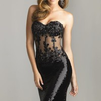 Strapless Embellished Dress by NightMoves by Allure