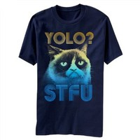 Grumpy Cat Yolo Stfu Mens T-shirt
