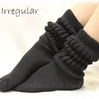IRREGULAR black super thick slouch socks slipper socks cotton socks All sales final Catherine Cole Studio