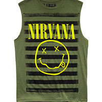 Striped Nirvana Muscle Tee