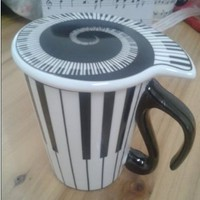 The Best Christmas Gift Ceramic Striped Coffee/Tea/Milk Cup/Mug With Cover