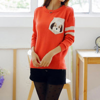 Sweet Cartoon Dog Sweater
