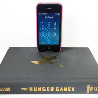IPhone IPod Dock, Hunger Games Book IPhone Docking Station and Charger, Mobile Accessories, Geekery Gadget, Gear for IPhone IPod