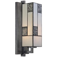 "Bradley 14 3/4"" Wide Charcoal Art Glass Wall Sconce - #W8505 