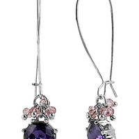BetseyJohnson.com - ICONIC AMETHYST LONG DROP EARRING PURPLE