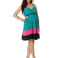 Motherhood Maternity: Sleeveless Belted Maternity Dress