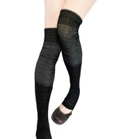 Double Barreled Scrunched Over Knee Socks