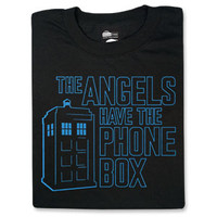 The Angels Have the Phone Box T-Shirt - Black,