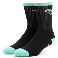 Diamond Supply Co OG High Cut Diamond Blue & Black Crew Socks