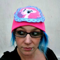 My Little Pony Custom beanie Hat PINKIE PIE winter Friendship is magic