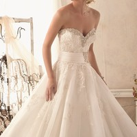 Strapless Tulle Gown by Bridal by Mori Lee