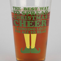 Elf Cheer Pint Glass - Urban Outfitters