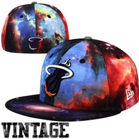 New Era Miami Heat Hardwood Classics Galaxy 59FIFTY Fitted Hat - Multi -