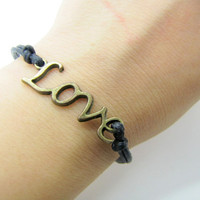 Vintage Style LOVE Pendant Ropes Bracelet Women by braceletcool