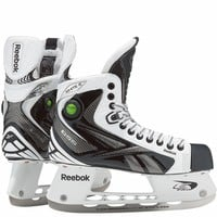 Reebok White K Pump Junior Ice Hockey Skates