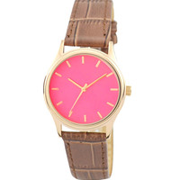 Ladies Rose Gold Watch Pink