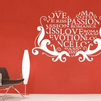 Love and Passion Sticker - Moon Wall Stickers