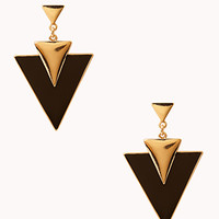 Retro Triangle Drop Earrings | FOREVER 21