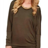 Green Long Sleeve Dolman
