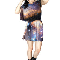 Sagan Galaxy Jersey Dress