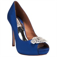 Badgley Mischka Goodie Sparkle Open Toe Pump at Von Maur