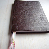 Journal: Love, Notebook, Jotter, Gift, For Her, Classy, Unique, Fun, Brown, Pink, Ribbons, Blank, Sketchbook, Hand Sewn - Detail Oriented