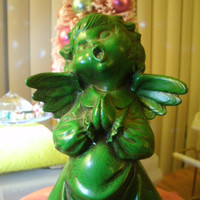 Scary Vintage Singing Angel Holiday Christmas Figurine Decoration