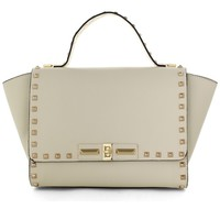 Stud Wing Tote Bag in Ivory