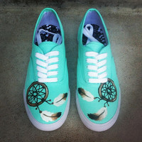 Teal Dreamcatcher Custom Shoes