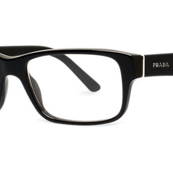 pr16mv shop prada rectangle eyeglasses from lenscrafters