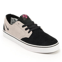 Nike SB Braata LR Medium Grey, Black, & Pink Foil Shoe