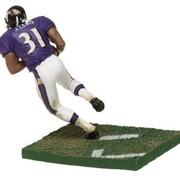 McFarlane Toys NFL Sports Picks Series 8 Action Figure Jamal Lewis (Baltimore Ravens) Purple Jersey